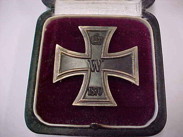 1870 IRON CROSS 1st CLASS CASED GODET BADGE