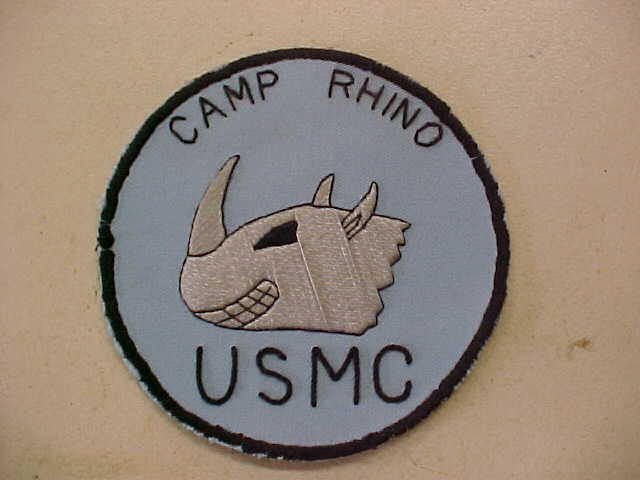 FOB CAMP RHINO PATCH USMC