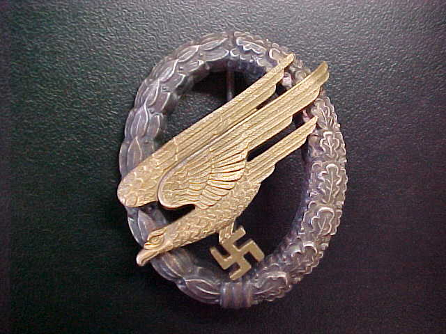 LUFTWAFFE PARATROOPER BADGE ASSMANN MAKER