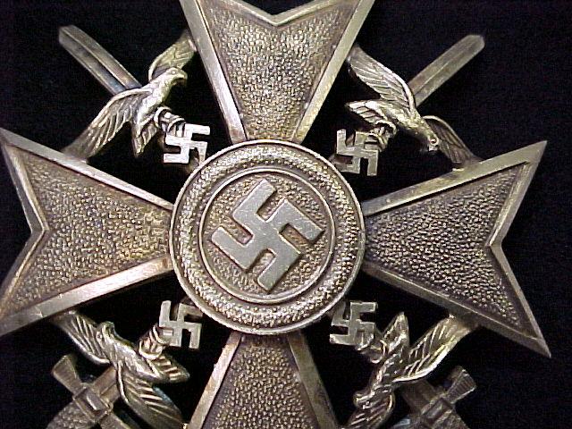 SPANISH CROSS WITH SWORDS GOLD GRADE