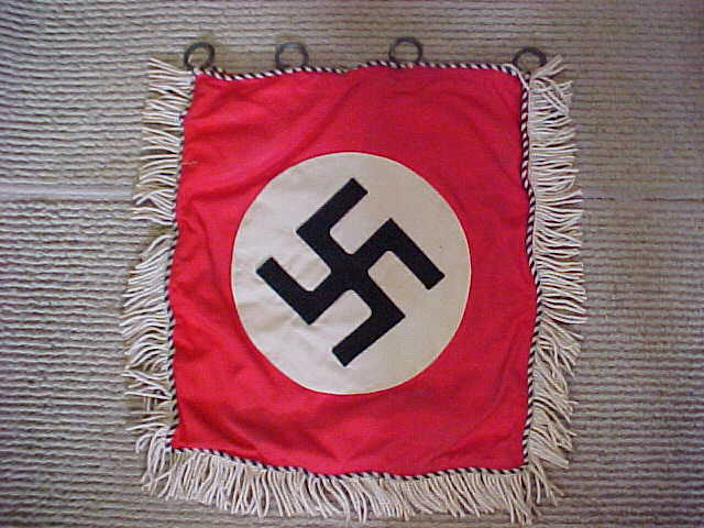 EARLY SS TRUMPET BANNER NSDAP