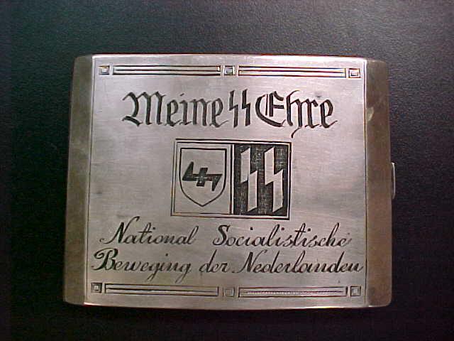 SS LANDSTORM NEDERLAND CIGARETTE CASE 34th WAFFEN GRENADIER DIVISION OFFICER