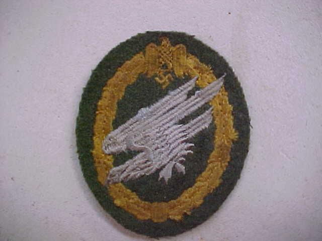 WEHRMACHT PARATROOPER BADGE CLOTH VERSION ARMY FALLSCHIRMJAGER PARA BADGE
