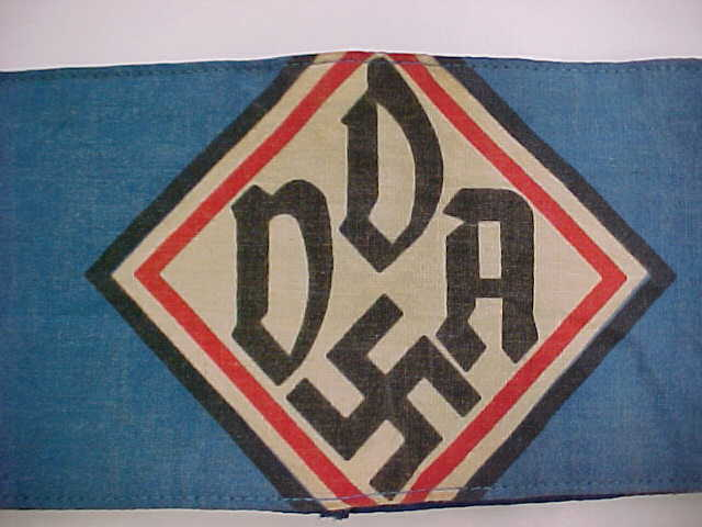 ARMBAND ASSOCIATION FOR GERMAN CULTURAL RELATIONS ABROAD DDA