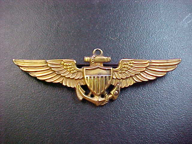 WW2 NAVY USMC PILOT WINGS SILVER AMICO