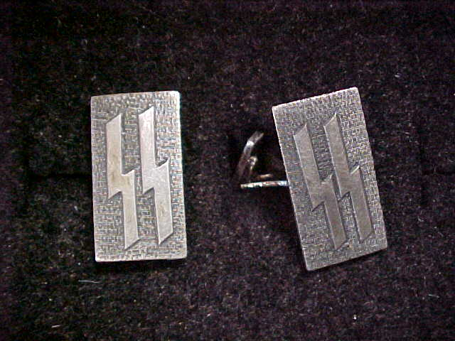 SS OFFICER SILVER CUFF LINKS