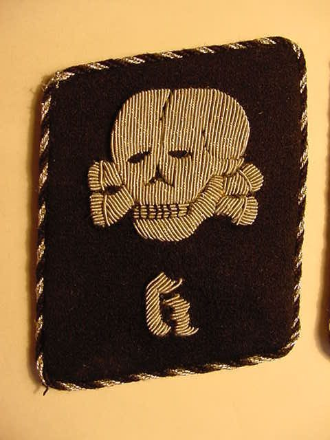 SS TOTENKOPF CONCENTRATION CAMP K COLLAR INSIGNIA
