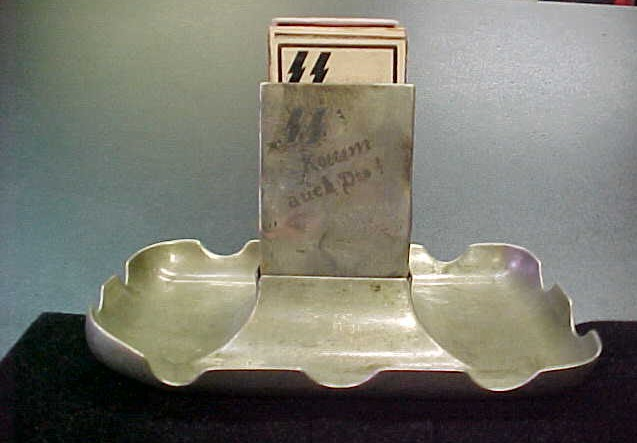 SS LEIBSTANDARTE ADOLF HITLER ASH TRAY MATCH HOLDER