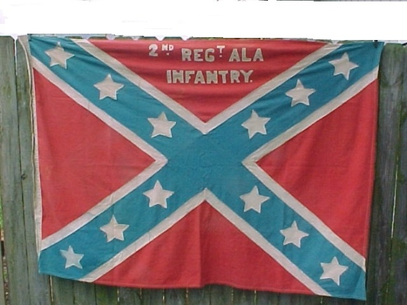 CONFEDERATE FLAG ORIGINAL UCV 1800s ALABAMA BATTLE FLAG