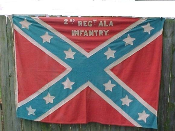CONFEDERATE FLAG ORIGINAL UCV 1800s ALABAMA BATTLE FLAG